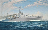 the argentinian training cruiser la argentina at sea by william mcdowell