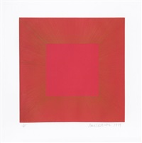 summer suite (red with gold 2) by richard anuszkiewicz