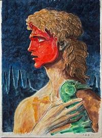 personaggio con fenice by alberto abate