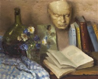 still life with mask by marcel dyf