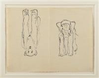 éléphant et ours by pierre bonnard