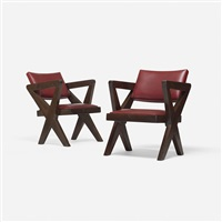 pair of chairs from chandigarh (pair) by pierre jeanneret