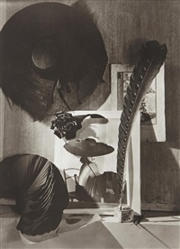 trompe l'oeil, still life with hat, paris by horst p. horst