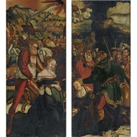 altarpiece: the martyrdom of saint catherine (+ the martyrdom of saint barbara; pair) by danube school (16)