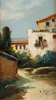 paisaje con casas by antonio jardines