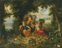 allegory of the four elements by jan brueghel the younger and frans francken the younger