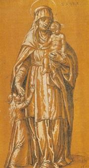 santa ana, la virgen y el niño by francisco pacheco