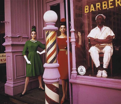 antonia and simone, barber shop by william klein