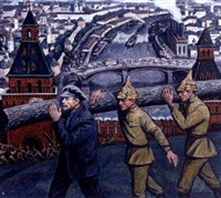 lenin participating on a saturday labour day near the kremlin by aleksei mikhailovich kadushkin