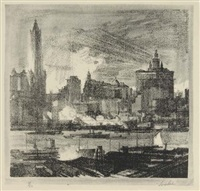 new york skyline by charles wheeler locke