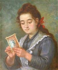 fille au petit tableau by lucien przepiorski