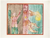 conversation to her by francesco clemente