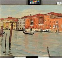 venezia, canal grande, gondola e palo by takanori oguiss
