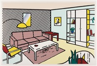 modern room (from interior series) by roy lichtenstein