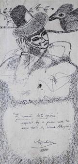 l'amant de l'opera (study) by david medalla