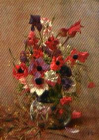 nature morte au bouquet de fleurs by gustave allemand