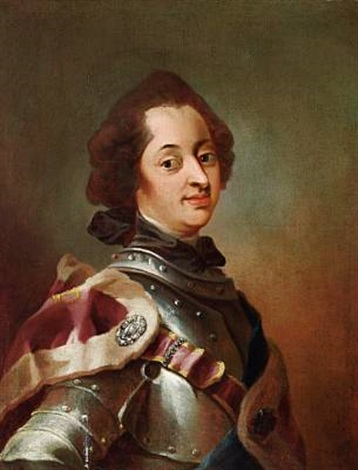 Portrait Of King Frederik V In Armour Von Carl Gustav Pilo Auf Artnet