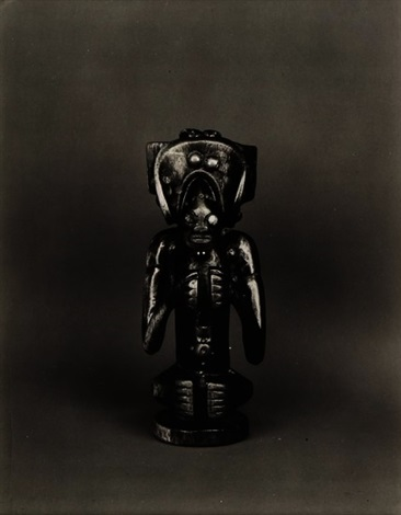 african mask statuette by walker evans