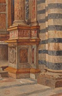 intérieur d'église (study) by théodore valerio