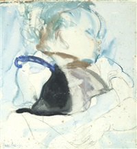 sleeping baby by frances mary hodgkins