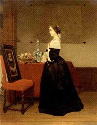 le portrait: the absent lover by johann cornelius mertz