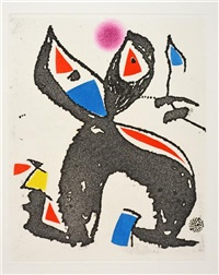 untitled (from le marteau san maitre) by joan miró