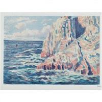 les rochers rouges, ou la mer a camaret by maximilien luce