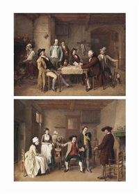 the morning news; and a suitable proposal (pair) by jean baptiste madou