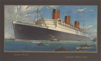 """r.m.s. queen mary,"" cunard white star line by william mcdowell"