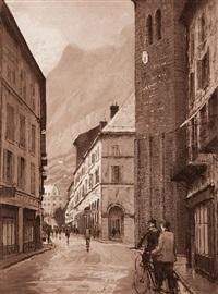 ensemble de vingt estampes dans un ouvrage titré maurienne by joanny j. drevet