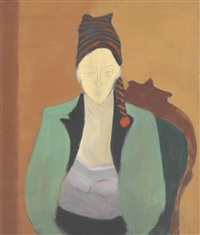 girl in stocking hat by milton avery