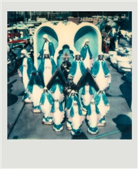 untitled (group of virgin mary and jesus lawn ornaments) by walker evans