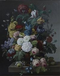 bouquet de fleurs (pair) by cornelis van spaendonck