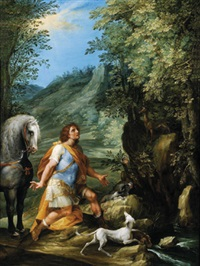 der heilige eustachius - sant eustachio by francesco allegrini