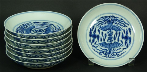 8 chinese blue white porcelain family bowls