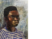portrait of a young boy by ben enwonwu