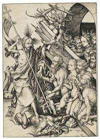 die höllenfahrt - christus in der vorhölle, pl. 11 (from die passion) by martin schongauer