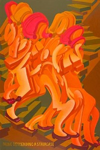 nude descending a staircase by peter saul