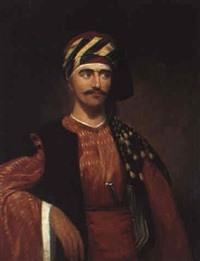 portrait of a gentleman from izmir in turkish dress by sir charles lock eastlake