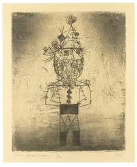 stachel der clown by paul klee