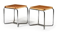 b56 stools (pair) by marcel breuer