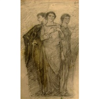 three classical figures by augustus vincent tack