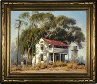 house in a rural landscape by darwin duncan