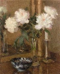 vase de fleurs devant la glace by ernest joseph laurent