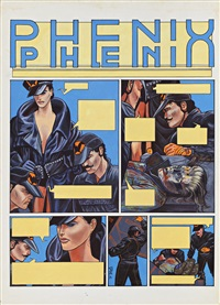phoenix, planche 1 (from album duel) by philippe gaukler