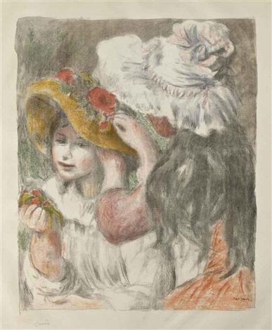 le chapeau épinglé deuxième planche by pierre auguste renoir