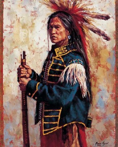 indian warrior by james ayers