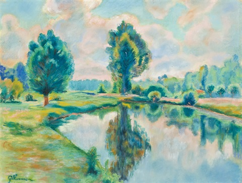 bord de riviere by armand guillaumin