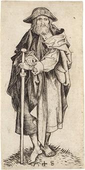 der apostel jakobus der ältere (major), pl. 4 (from die apostel) by martin schongauer