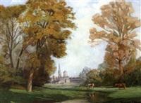 paysage d'automne: normandie by jacques roger simon